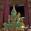 Stock Photo: Thailand, Chiang Mai, Prathat Doi Suthep Buddhist temple, jade Buddha statue