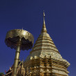 Thailand, Chiang Mai, Phra Thart doi suthep temple (Wat Phra Thart Doi Suthep), golden roof - Stock Photo