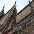 Thailand, Chiang Mai, Ket Karam Temple (Wat Ket Karam), wooden roof ornaments — Photo