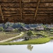 Thailand, Chiang Mai, view of the Karen Long Neck Hill Tribe village and rice fields — Stock Photo