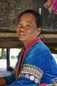 Tayland, chiang mai, karen uzun boyunlu tepe kabile köyü (kayan lahwi), karen kadın geleneksel kostümleri — Stok fotoğraf