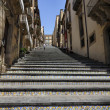 Italy, Sicily, Caltagirone (Catania Province), Santa Maria Del Monte steps, built in 1606 A.C. - Stock Photo