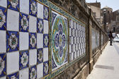 Italy, Sicily, Caltagirone town (Catania Province), original majolics on the S. Francesco Bridge — Stock Photo