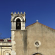 Italy, Sicily, Taormina (Messina Province, S. Agostino church (1486), today converted into a library - Foto Stock