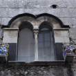 Italy, Sicily, Taormina (Messina Province), baroque window of an old building — Stock Photo #11666064