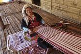 Thailand, Chiang Mai, Karen Long Neck hill tribe village (Kayan Lahwi), Karen woman — Stock Photo