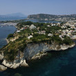 Italy, Campania, aerial view of Bacoli town and its internal lagoon (Naples) — Foto Stock