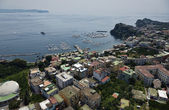 Italy, Campania, aerial view of Bacoli town and Naples gulf — Stock Photo