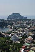 Italy, Campania, aerial view of Bacoli town and Capo Miseno (Naples) — Stock Photo