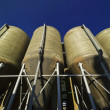 Italy, Naples, industrial silos in a leather factory - Foto de Stock