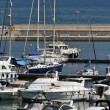 Italy, Sicily, Mediterranean sea, Marina di Ragusa, view of luxury yachts in the marina — Стоковая фотография