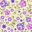 Seamless flowers pattern — Stock Vector