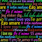 I love you on different languages — Stok Vektör