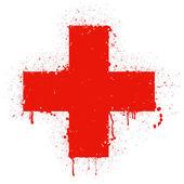 Red cross — Stock Vector