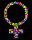 Feminine symbol — Stock Vector