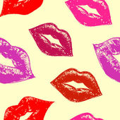 Seamless pattern with abstract lips — Stock Vector