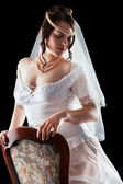 Lovely sensual bride in lingerie — Stock Photo