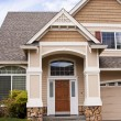 Suburban house - Stock Photo