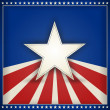 Patriotic USA background with stars and stripes — Vector de stock