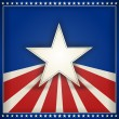 Patriotic USA background with stars and stripes — Image vectorielle