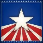 Патриотических США фон с звезд и полос — Cтоковый вектор