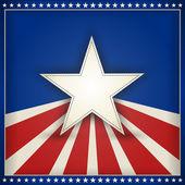 与星星和条纹的爱国美国背景。 — 图库矢量图片