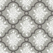 Stock vektor: White roses seamless pattern
