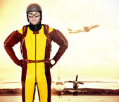 Professional parachutist — Stock Photo