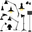 Lamps set — Stock Vector