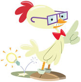 Chicken nerd — Stock Vector