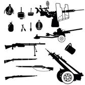 Weapon and artillery 1 — Stock Vector