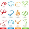 Simplistic zodiac star signs - Stock Vector