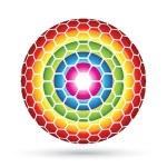 Hexagon Sphere — Stock Vector