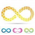Infinity Symbols Honeycomb — Stock Vector