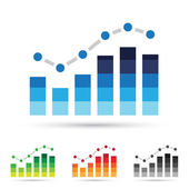 Stats Icons — Stock Vector