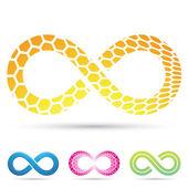Infinity symbolen honingraat — Stockvector