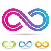 Retro style infinity symbol — Stock Vector