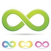 Elegantní infinity symboly — Stock vektor