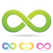 Sleek infinity symbols — Stock Vector