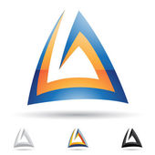 Abstrakte symbol für den buchstaben ein — Stockvektor
