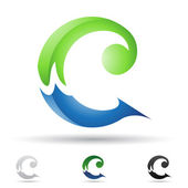 Abstract icon for letter C — Stock Vector