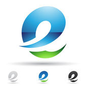 Streszczenie ikona na literę e — Wektor stockowy