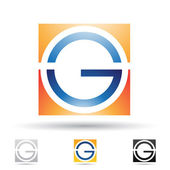 Abstract icon for letter G — Stock Vector