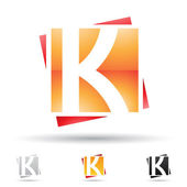 Abstract icon for letter K — Stock Vector