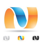 Abstract icon for letter N — Stock Vector