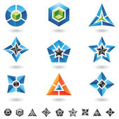 Cubos, estrelas, pirâmides — Vetorial Stock