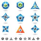 Kostki, gwiazdy, piramidy — Wektor stockowy