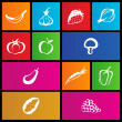 Royalty-Free Stock ベクターイメージ: Metro style fruit and vegetable icons