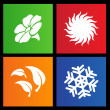 Royalty-Free Stock Vector Image: Metro style four seasons icons