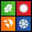 Stock Vector: Metro style four seasons icons